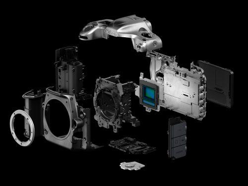 A Nikon D500 főbb részegységei