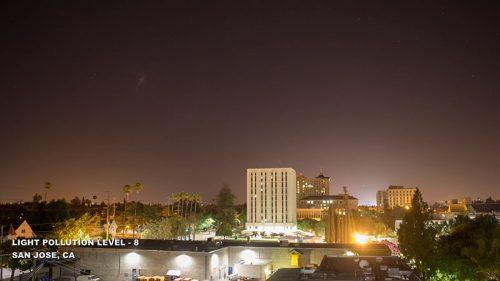Fényszennyezés, 8-as szint San Jose, Kalifornia
