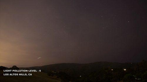 Fényszennyezés, 6-os szint Los Altos Hills, Kalifornia