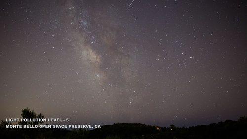 Fényszennyezés, 5-ös szint Monte Bello, Kalifornia