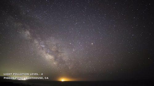 Fényszennyezés, 4-es szint Pigeon Point világítótorony, Kalifornia