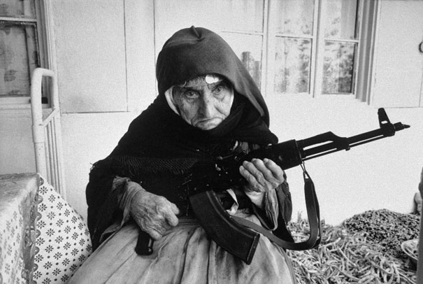 1990_106-year-old_Armenian_Woman_guards_home