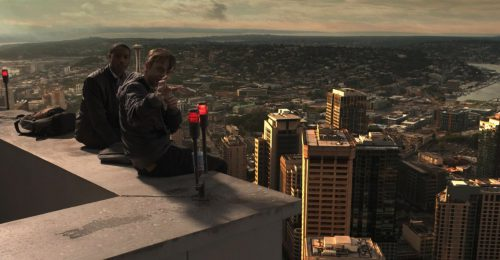 Michael B. Jordan és Dane DeHaan a Chronicle c. film jelenetében (© 2012 Twentieth Century Fox)